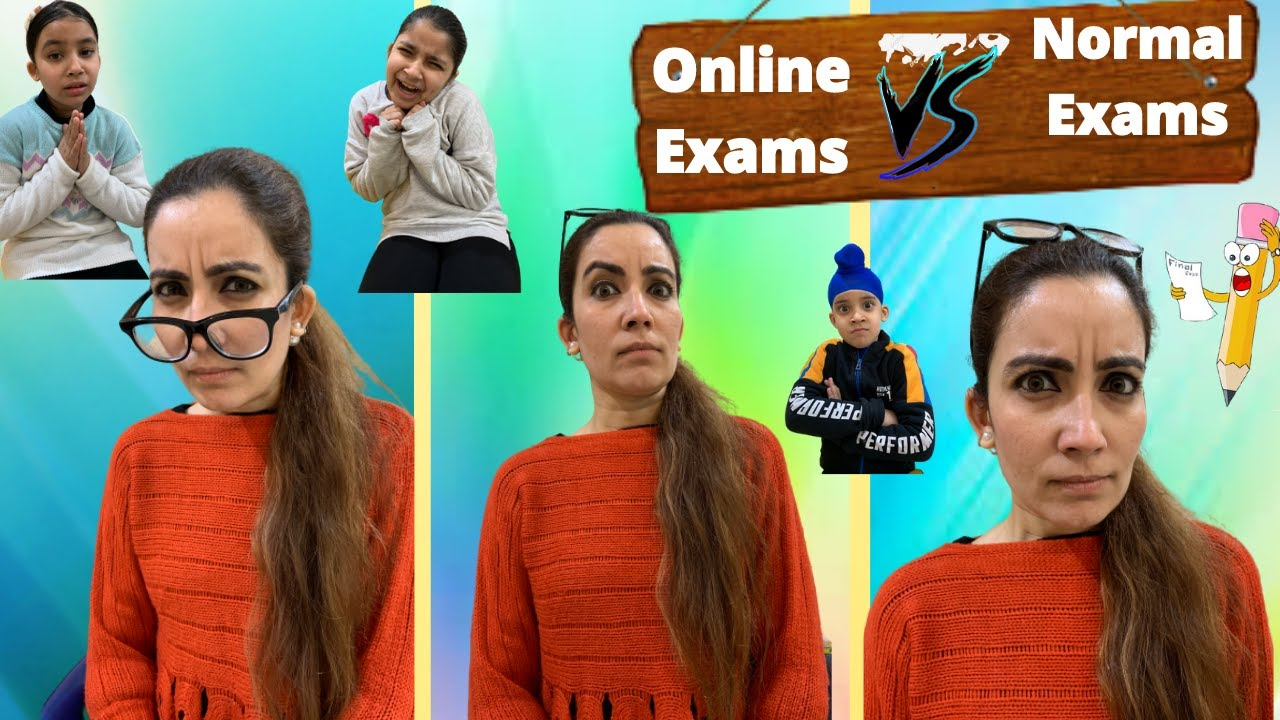 Online Exams Vs Normal Exams | RS 1313 VLOGS | Ramneek Singh 1313