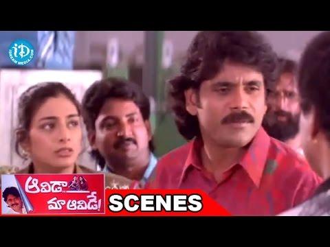 Aavida Maa Aavide Movie Scenes - Nagarjuna And Tabu Introduction Action Scene | Heera