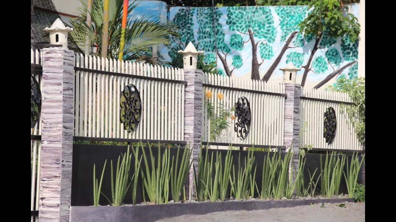 Modern fence design for box type houses youtube - Modern house fence design ...