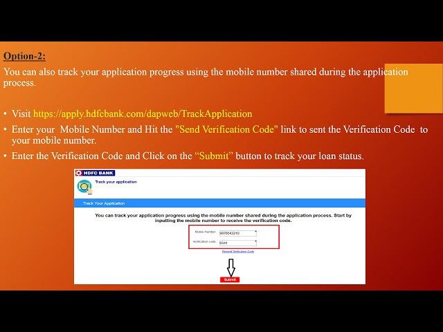 Hdfc Bank Check Loan Application Status Online Www Statusin In