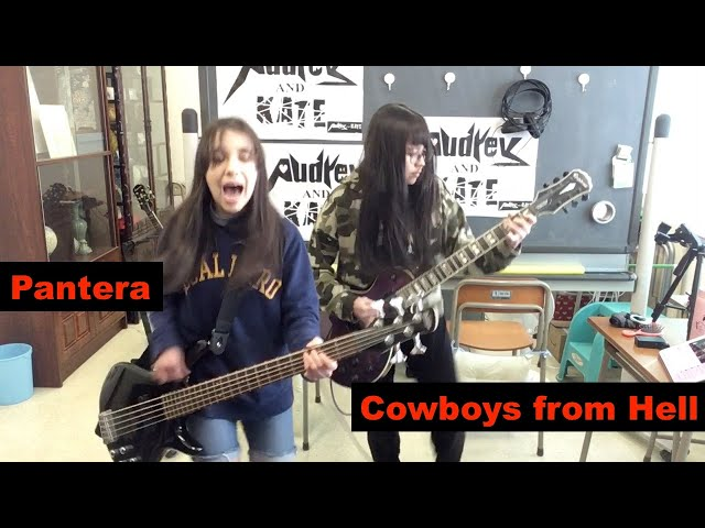 Cowboys from Hell - #Pantera - guitar + bass cover #パンテラ