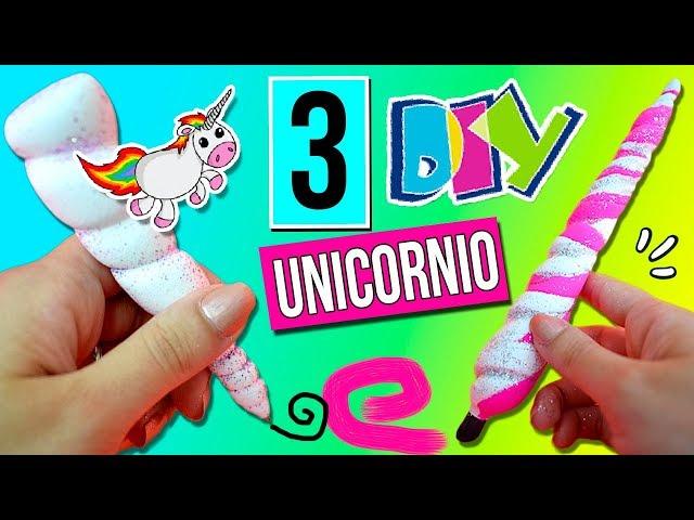 ???? ¡3 DIY de UNICORNIO! ???? Bolígrafo, Labial y Pincel * MANUALIDADES FÁCILES para Adolescentes