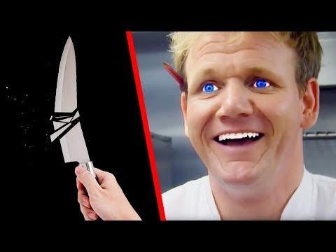 TOP 10 GORDON RAMSAY KNIFE MOMENTS!!!