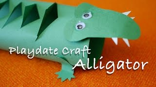 alligator puppet drawing lesson