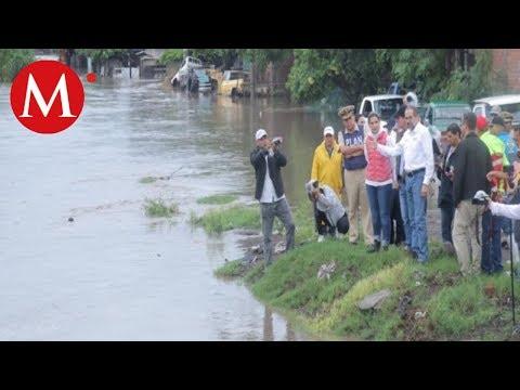 Huracán 'Lorena' deja deslaves e inundaciones en Colima
