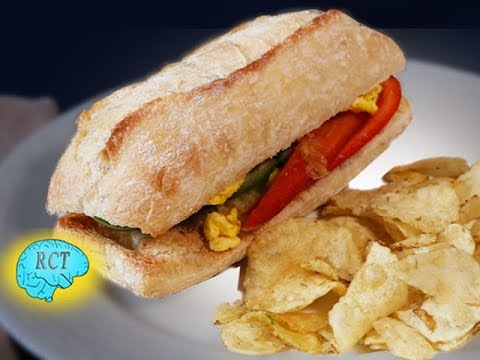 Lent Approved Pepper and Egg Sandwich