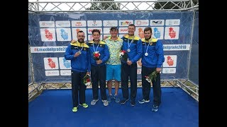 Чемпионат Европы по гребле на байдарках и каноэ Белград. C4 500m Men