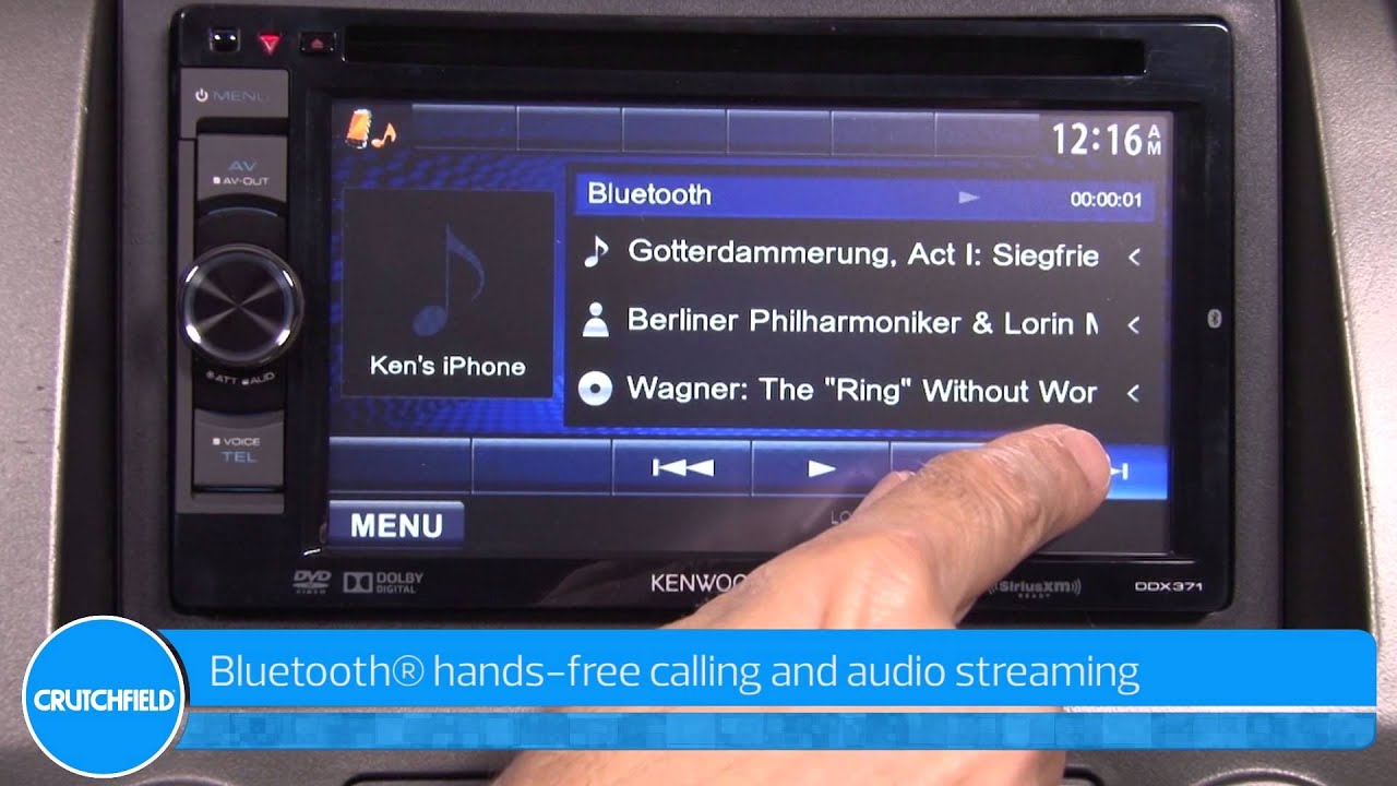 Kenwood DDX371 Display and Controls Demo | Crutchfield Video