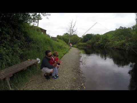 3 Year Old Catches His First Fish HD Fishing Ireland