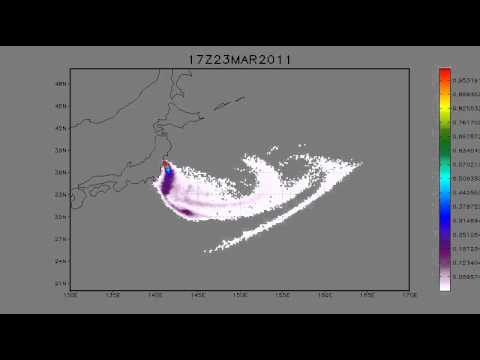 21.03.2011. Fukushima. Tracer transport. 5 days forecast.