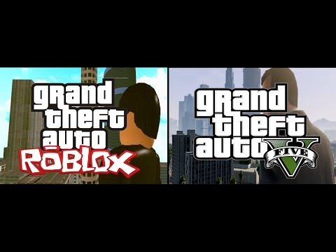 GTA V Trailer vs. GTA Roblox Trailer (Comparison) Re-Uploaded - **SPEED UP TO 1.25x**