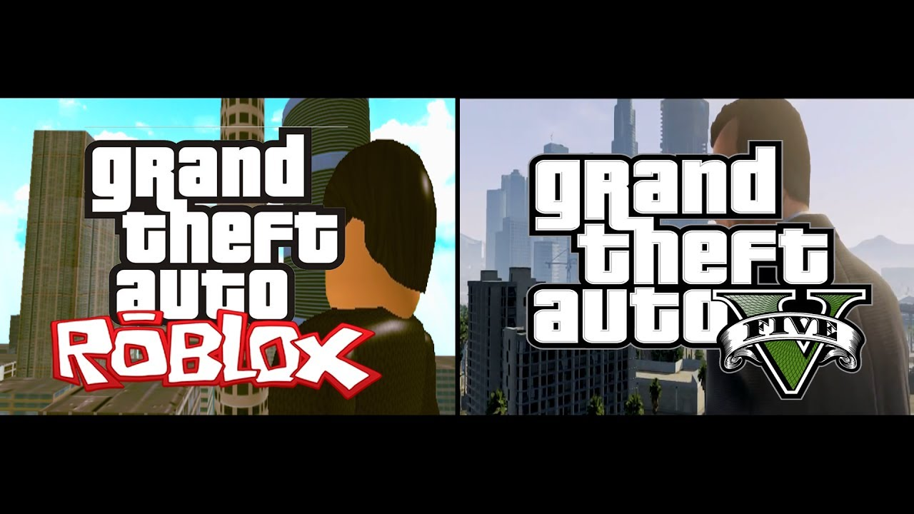 Gta V Trailer Vs Gta Roblox Trailer Comparison Re Uploaded