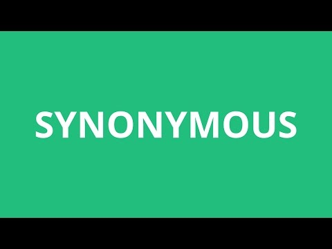 How To Pronounce Synonymous - Pronunciation Academy