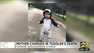Mother charged in toddler's death