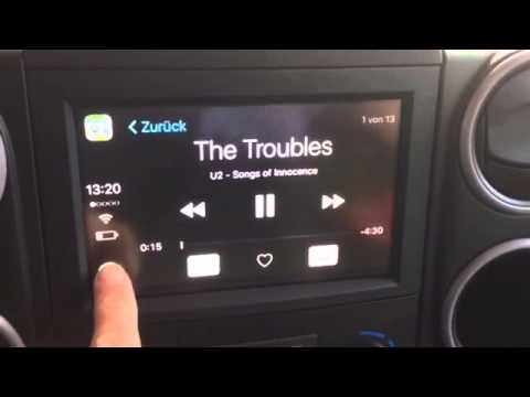 Apple Carplay Demonstration Hier Im Citroen Berlingo Youtube