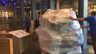Life-size model of a blue whale's heart arrives at New Bedford Whaling Museum