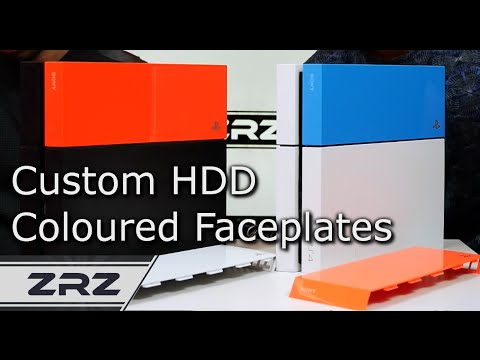 PS4 Official Coloured Custom HDD Faceplates - UK - ZRZ
