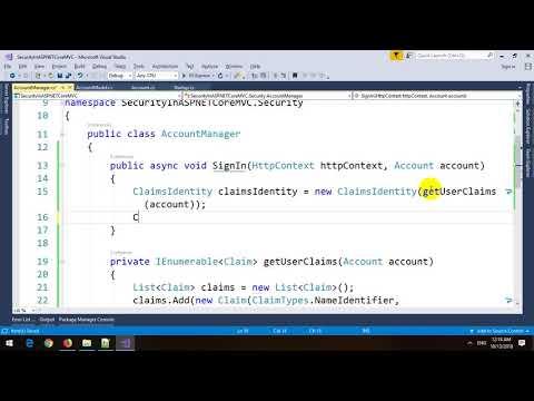 Security in ASP.NET Core MVC
