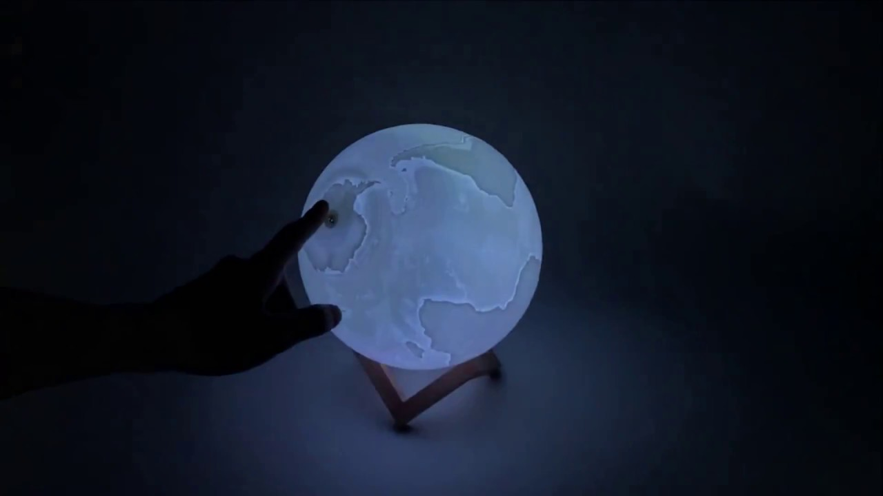 Couleurs Nuit En Télécommande Lampe Avec 16 Terre Forme De Planète Rechargeable 4Ajq5c3RL