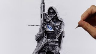Hunter - Speed Drawing - How To Draw - Destiny 2