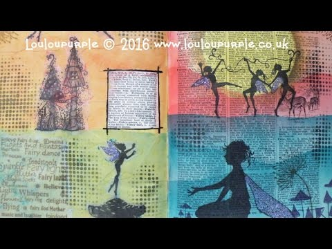 Dictionary Art Journal Fairy, Using Lavinia Stamps