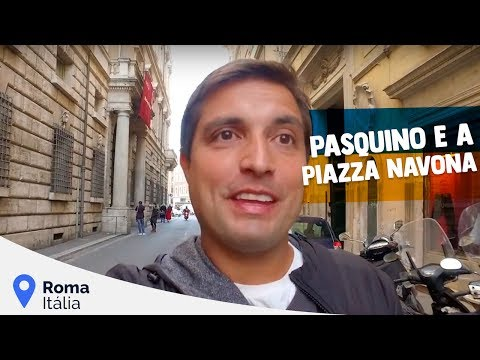 O Pasquino e a Piazza Navona em Roma