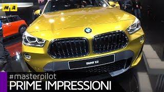 BMW X2, SUV compatto e sportivo da 143 a 231 CV | Live from Detroit 2018[ENGLISH SUB]