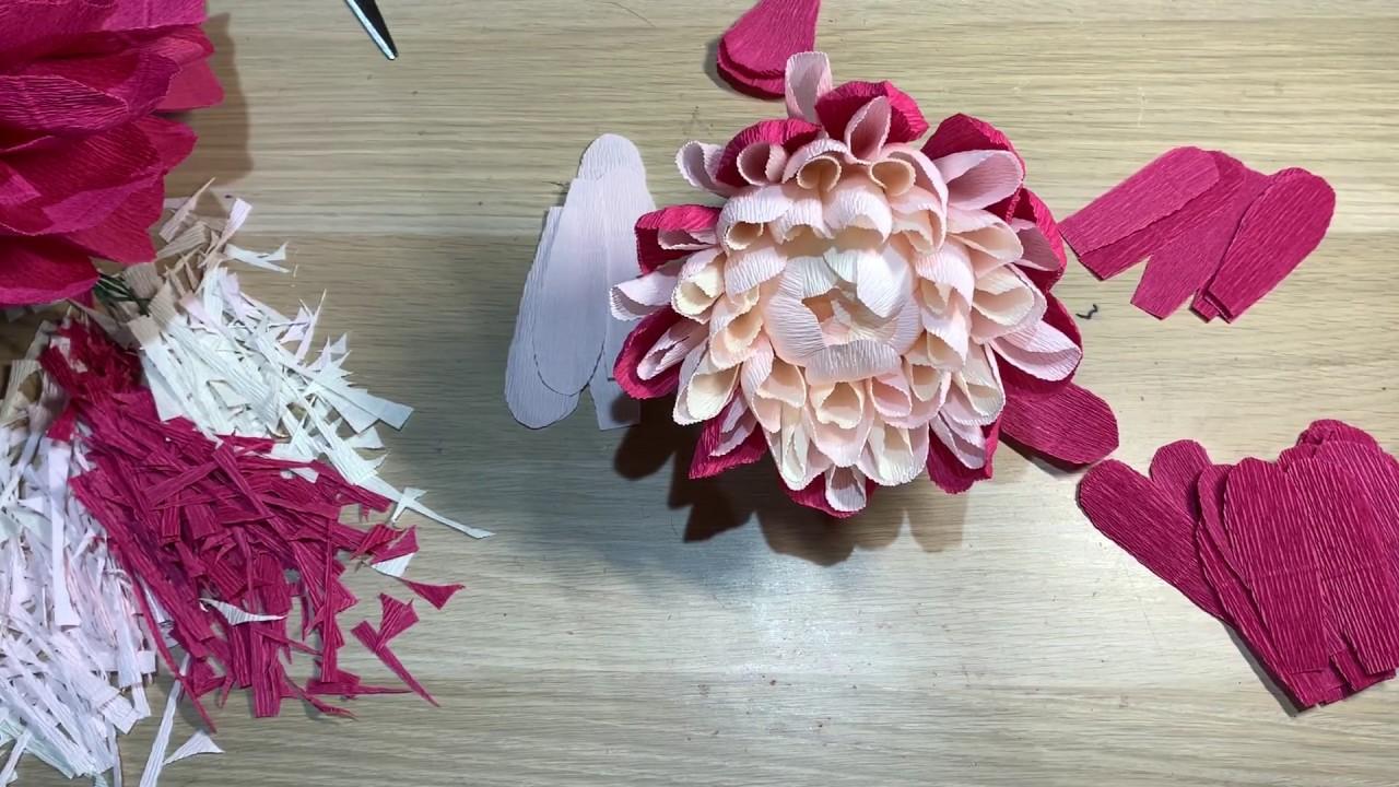 Огромный цветок. Видео МК. Huge flower. Video lesson.
