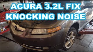 Acura TL 3.2L KNOCKING NOISE EXPLAINED HONDA failed timing belt tensioner