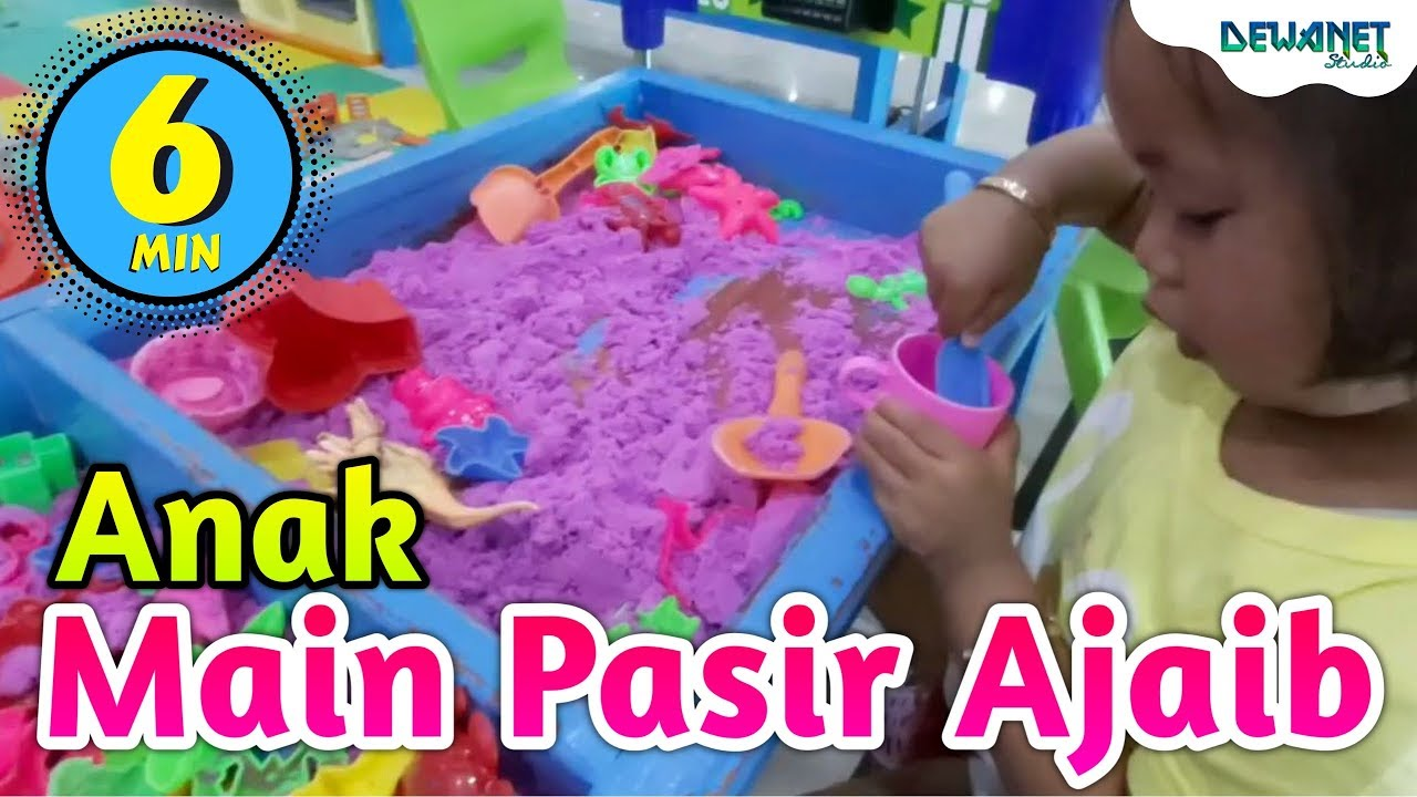anak main pasir ajaib - YouTube