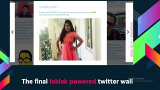 Twitter Wall using Loklak APIs - Madhuri Peri - FOSSASIA Summit 2017