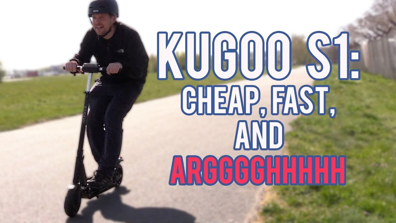 Fast, Cheap, and Absolutely Terrifying: The Kugoo S1 Electric Scooter
