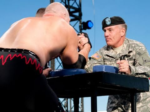 The time Kane arm wrestled a Major General.