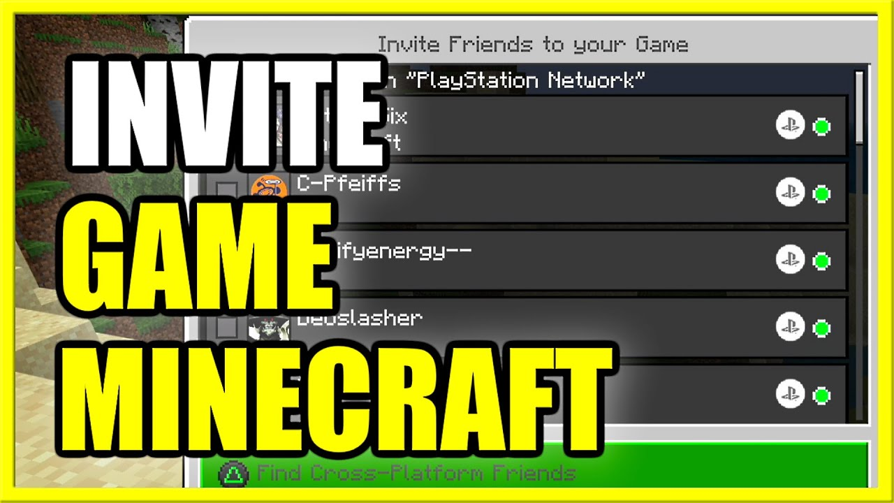 How to SEND GAME INVITE to FRIEND on MINECRAFT PS9 XBOX PC (Fast Method!)