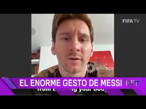 El enorme gesto de Messi frente al coronavirus