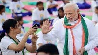 50000 लोगों के साथ पीएम Modi का योग PM Narendra Modi World Yoga Day 2018 FULL VIDEO |Dehradun