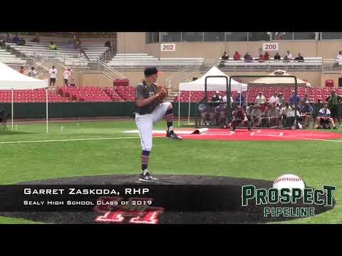 Garret Zaskoda Prospect Video, RHP, Sealy High School Class of 2019
