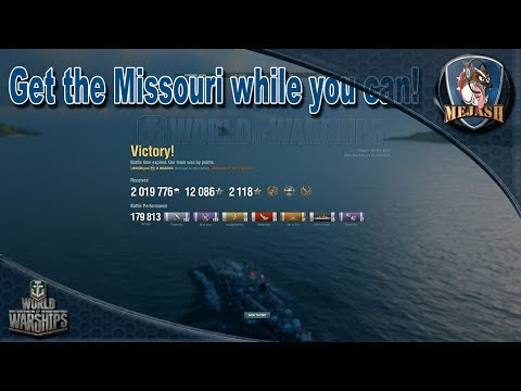 World of Warships: Get the Missouri while you can! Huge Money Maker!