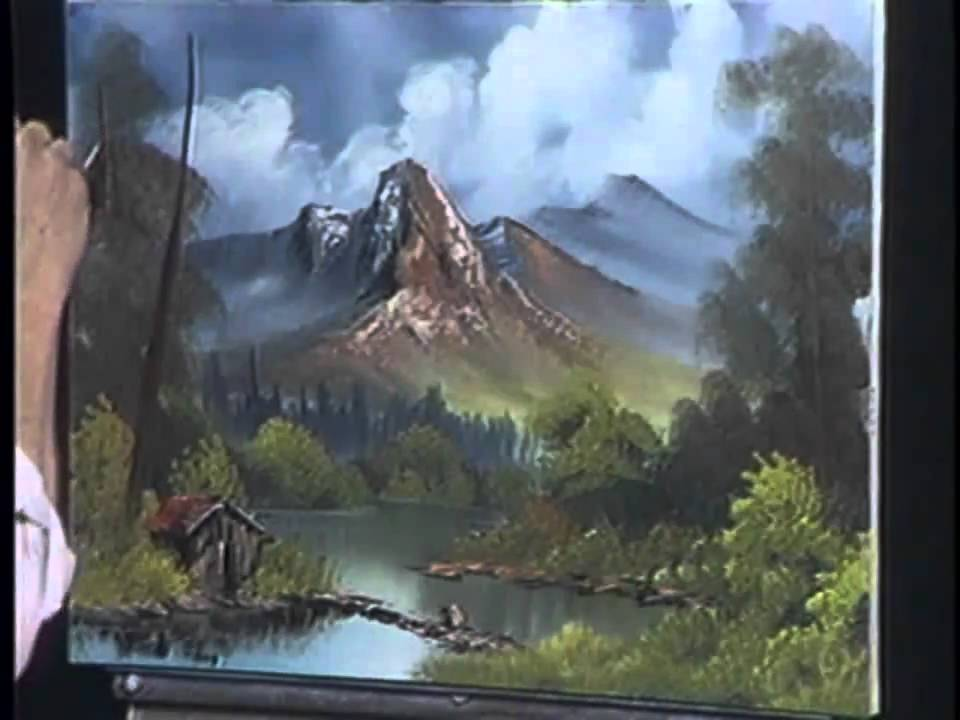 Bob Ross The Joy Of Painting These Big Trees Come In Threes Youtube