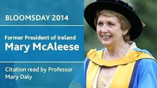 Former President of Ireland, Mary McAleese honoured by UCD | Bloomsday 2014