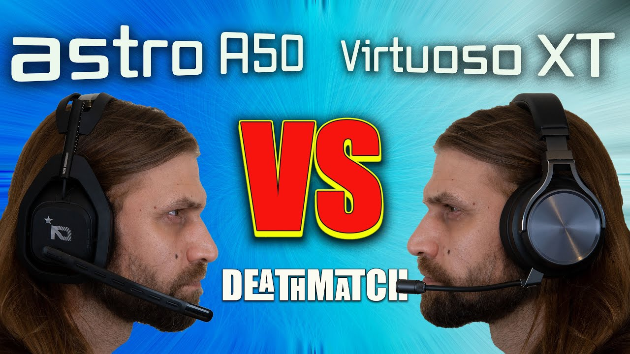 astro A50 Wireless vs Corsair Virtuoso RGB Wireless XT Mic test and review