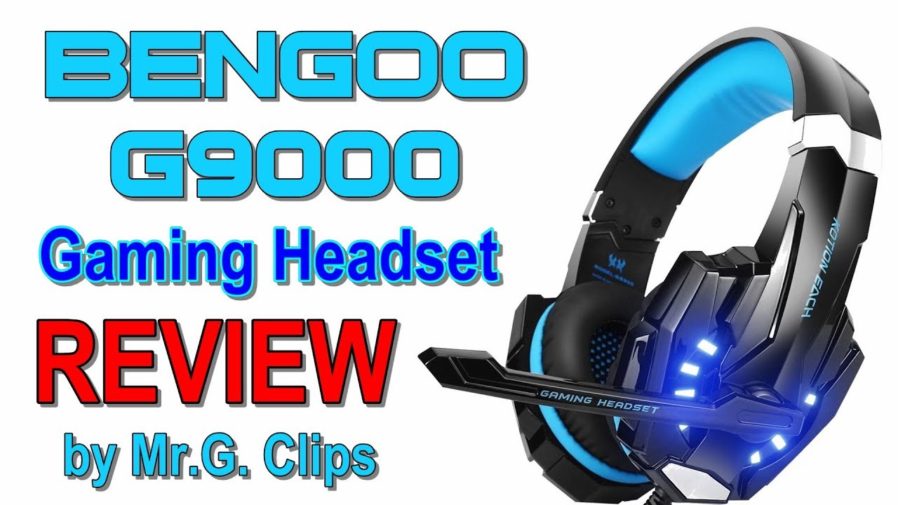 BENGOO G9000 Gaming Headset REVIEW and Sound Test!