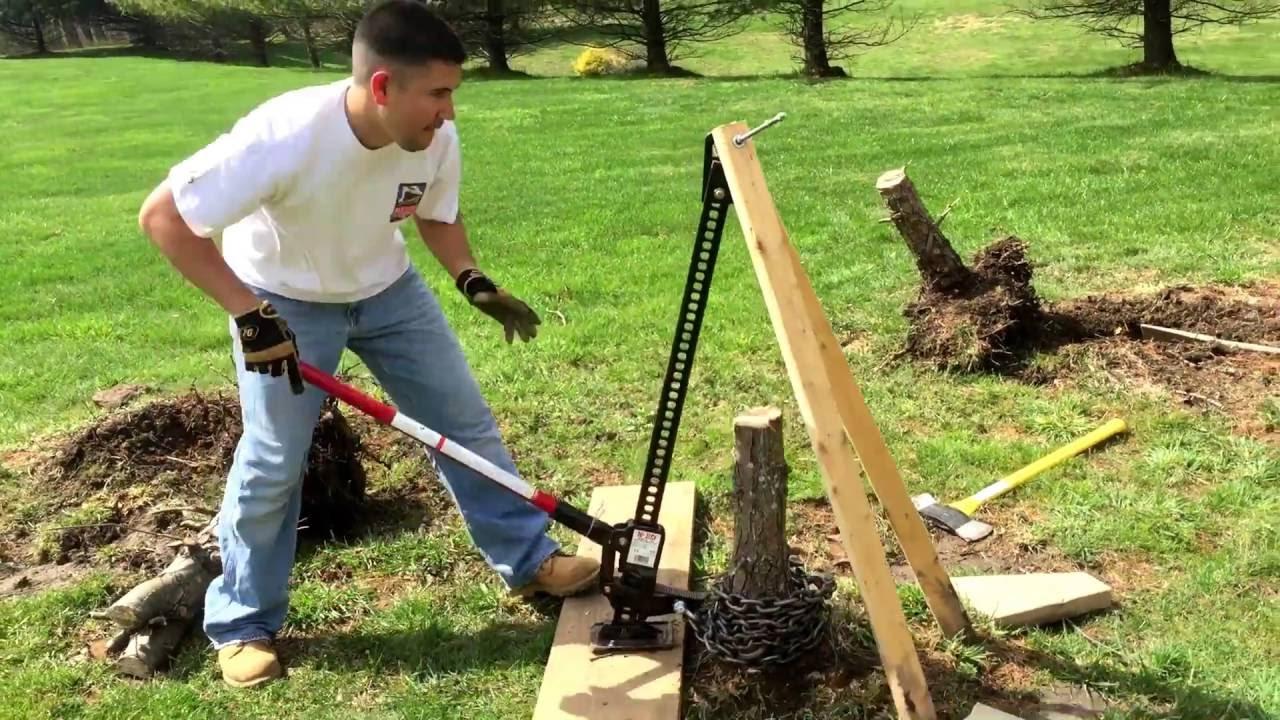 Remove Tree Stump With Hi Lift Jack Youtube