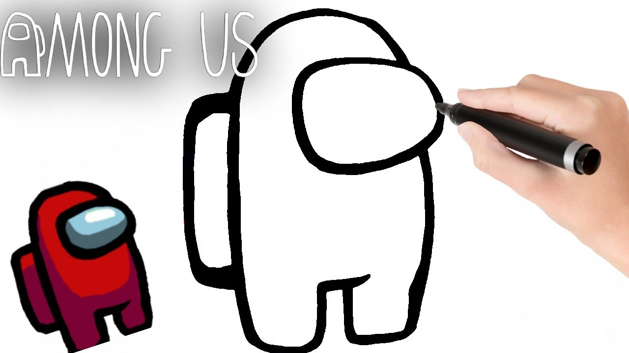 Como dibujar paso a paso a AMONG US - How to Draw Among US ...