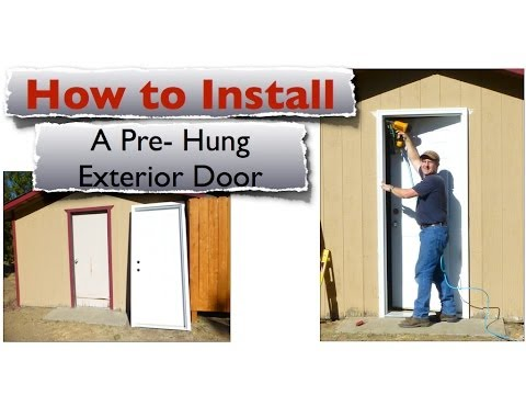 How to install an exterior door pre hung steel replac - How to install a prehung exterior door ...