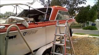 1 Boat Restoration 1973 Fiberform Major Fiberglass Repair part 1 of 7