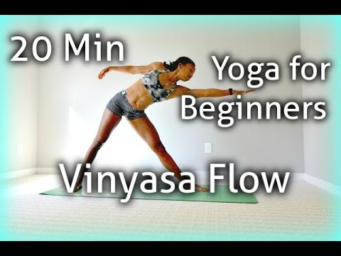 20min yoga for beginners vinyasa flow stepstep