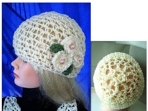 Free Crochet Summer Hat Patterns For Adults : CROCHET SUMMER MESH HAT, adult size, how to diy, free ...