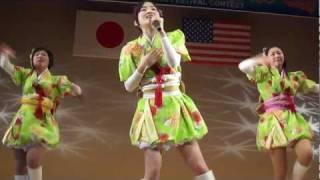 2012.02.25 三沢市日米国際フェスタ より、りんご娘「トレイ...