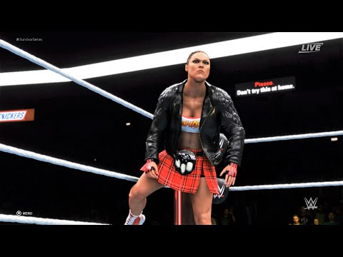 WWE2K20 - Stephanie McMahon vs Ronda Rousey.